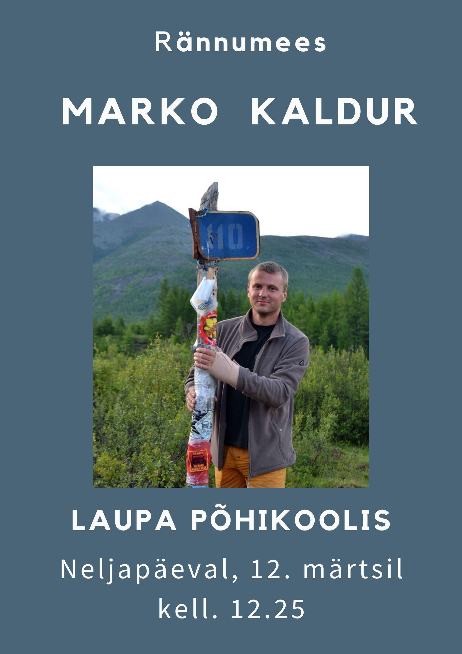Rännumees Marko Kaldur